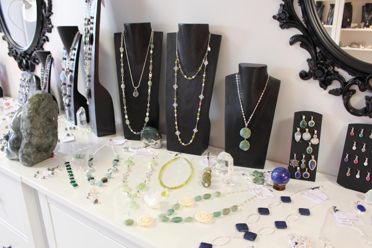 Bijoux amazonite, jade, aventurine