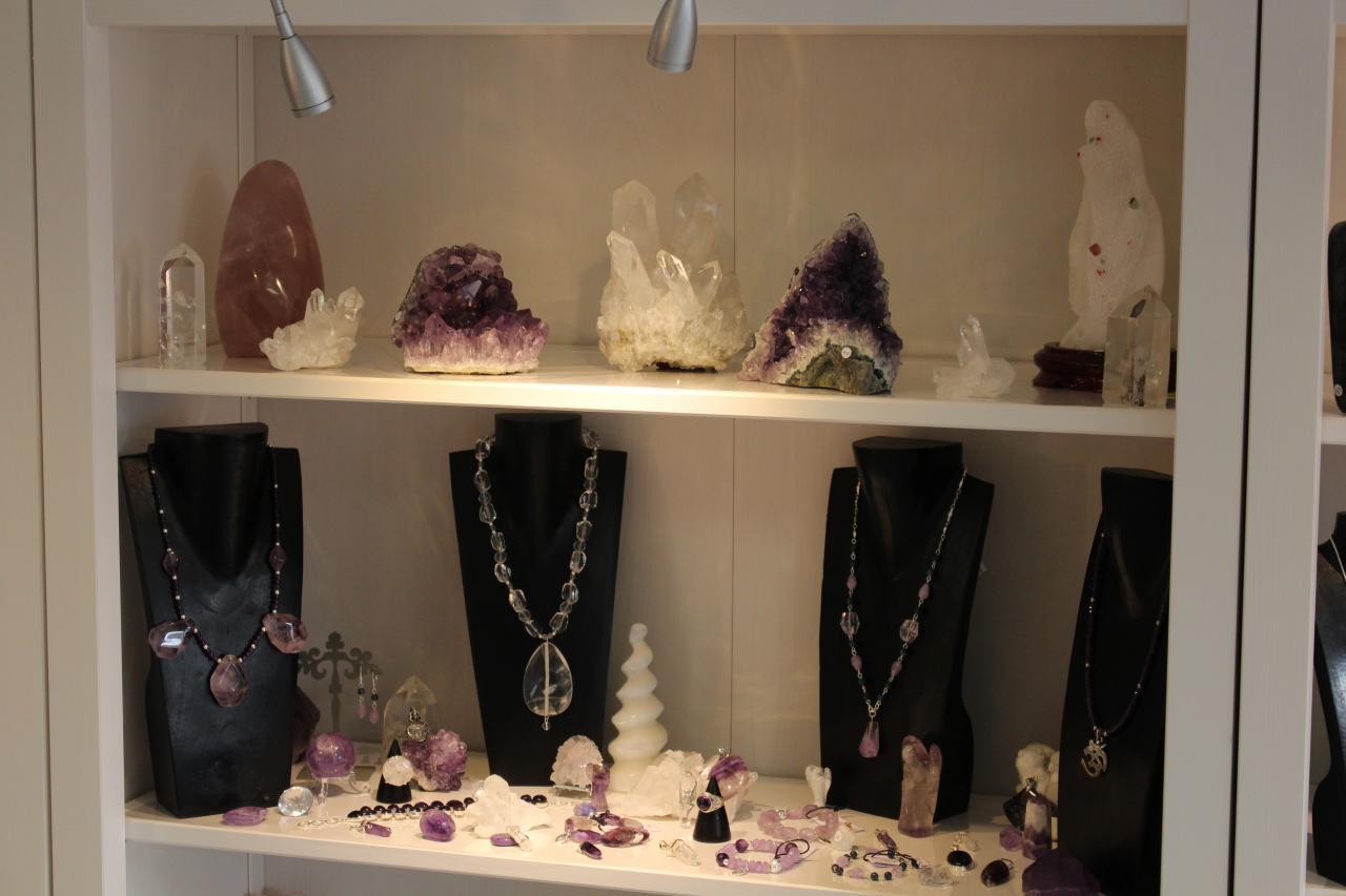 Bijoux améthyste et quartz (cristal de roche)
