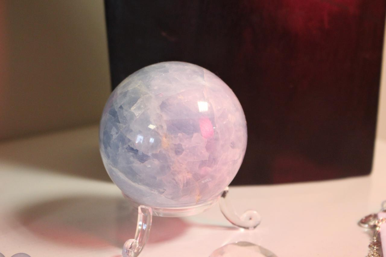 Pierre - sphère calcite bleue