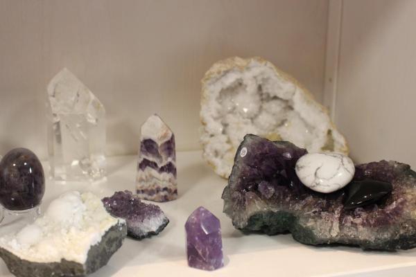 Pierres geode et amethyste